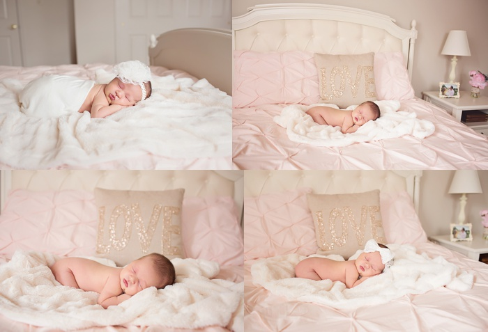 Pretty in Pink - At Home Newborn Session. Lifestyle newborn session in NJ. www.stacymaephotography.com