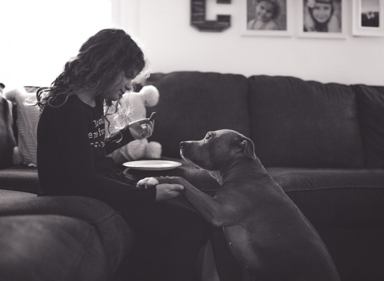 Learning to embrace the grain. My little girl sharing a snack with her best buddy. www.stacymaephotography.com